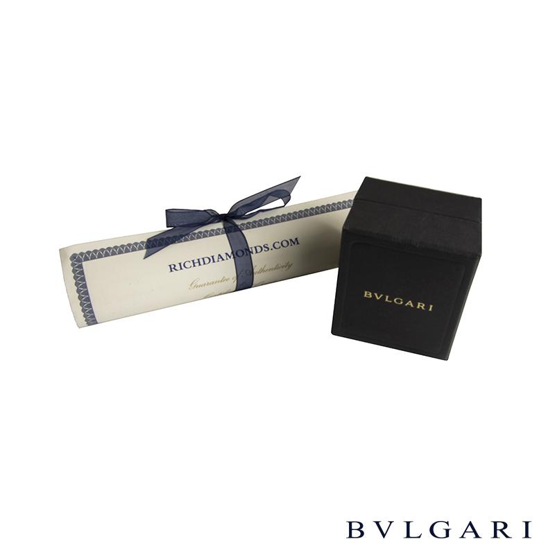 Bvlgari White Gold Blue Topaz Cocktail Ring